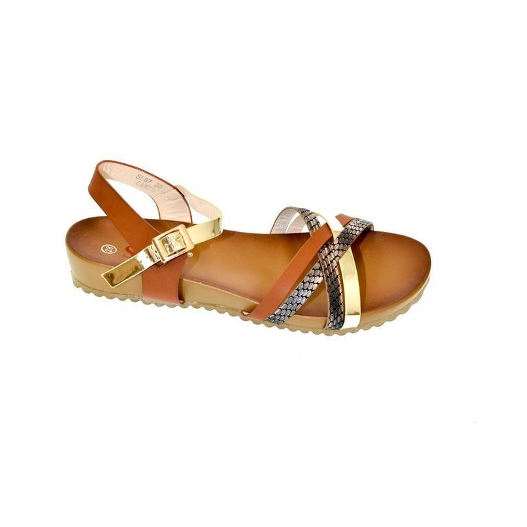 b40c4598dfd2 Dámske hnedé sandále VEGGA