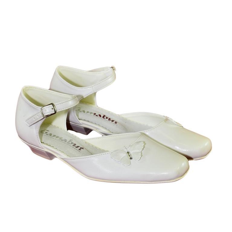 6ff2ede77f4f Detské biele spoločenské topánky AVINS