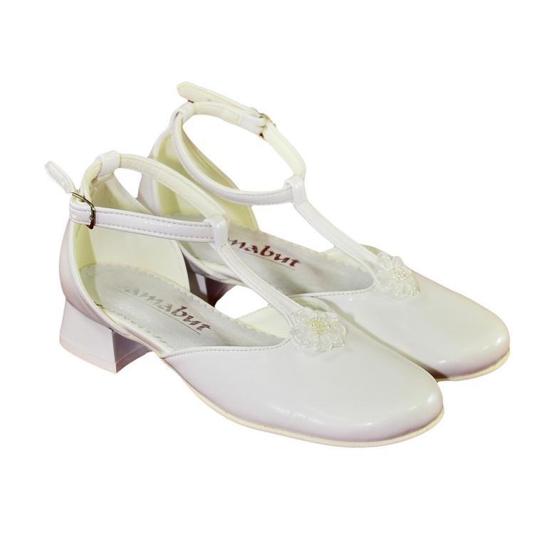 c7d07a483158 Detské biele spoločenské topánky SAHAH
