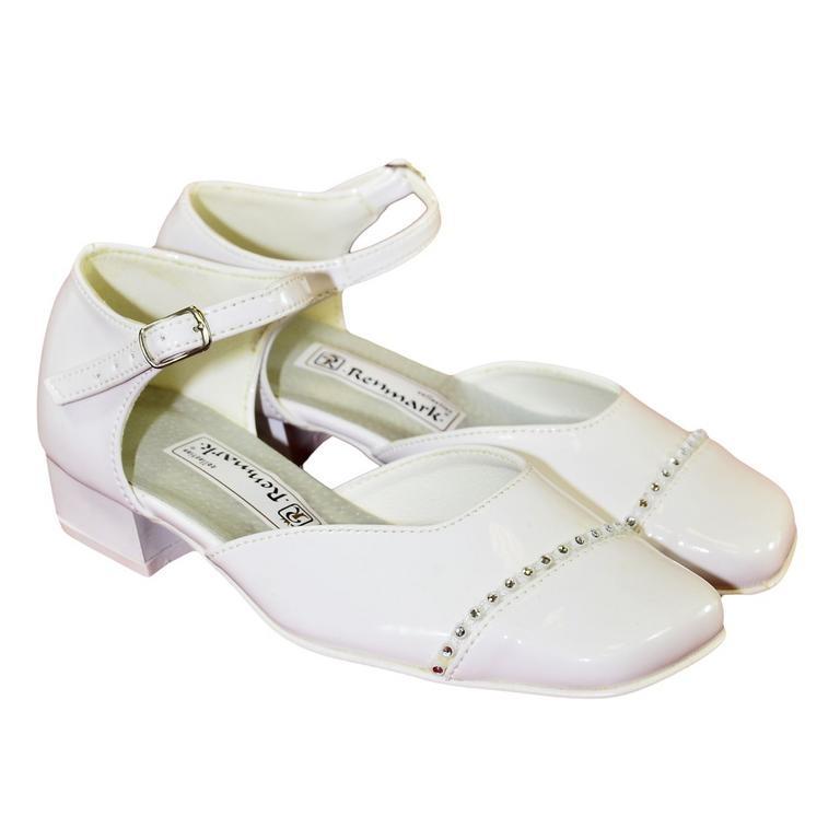7fcd9a8cef55 Detské biele spoločenské topánky MIRVAN
