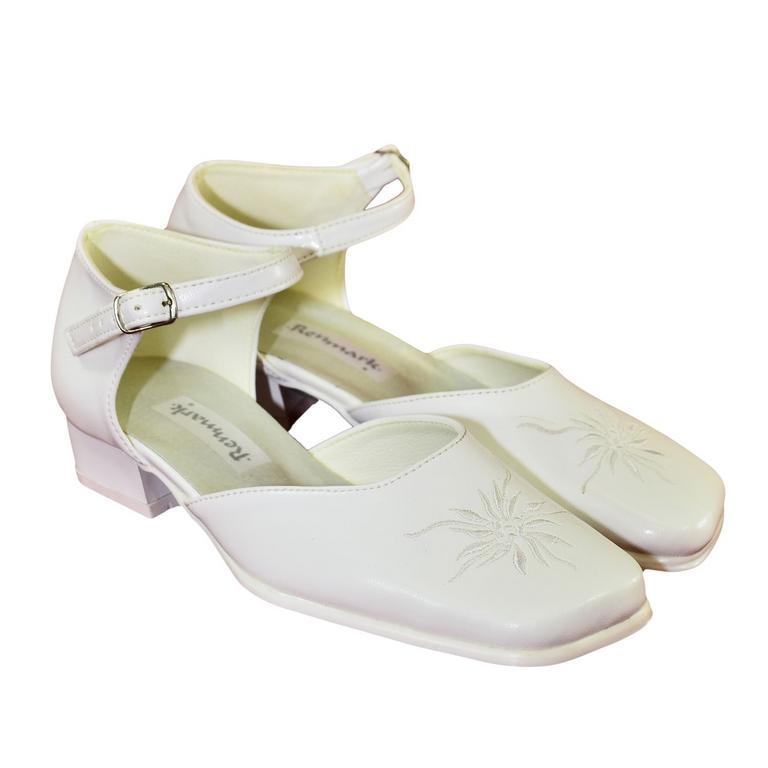 92bb52847671 Detské biele spoločenské topánky NICOL