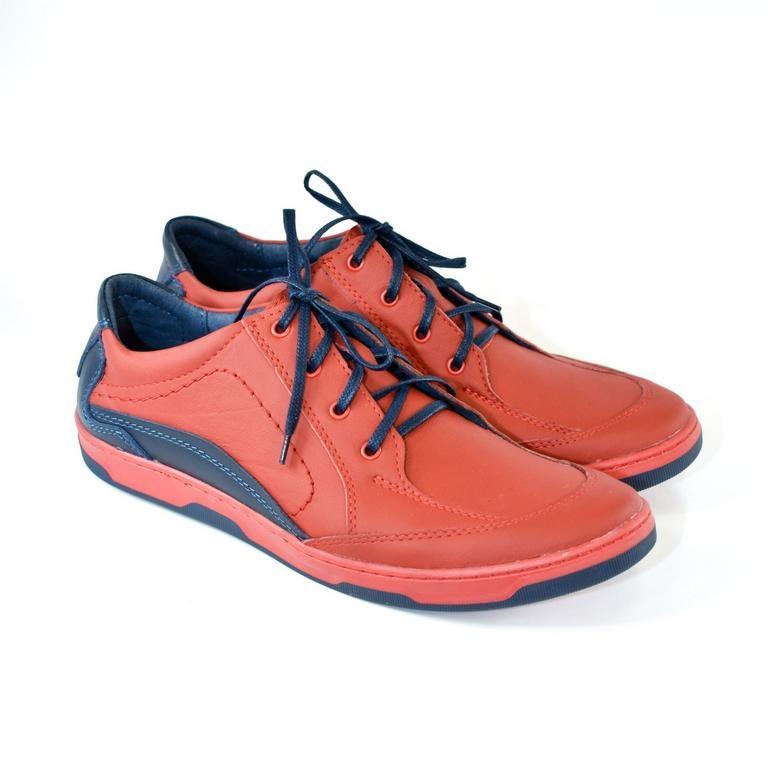 Pánske kožené červené topánky ROY 29230fa316d