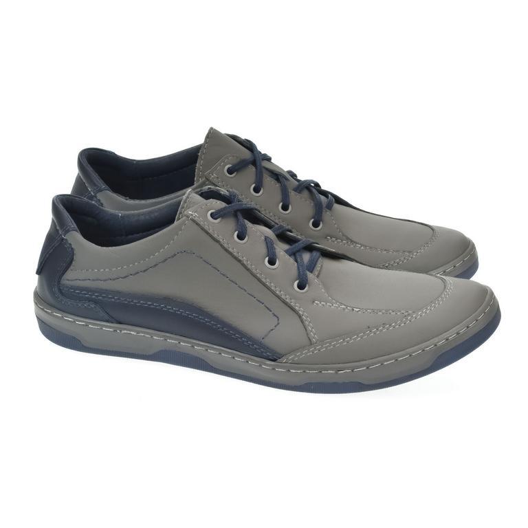 Pánske kožené sivé topánky ROY f48f9d99f33