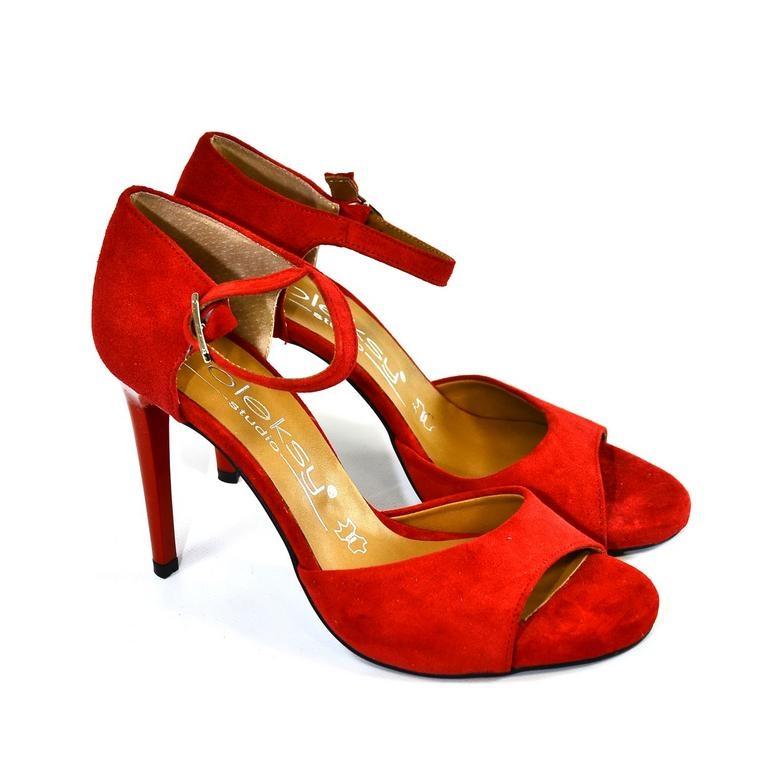 e307989e85df Dámske červene sandále FINAS