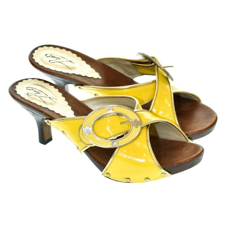 c82cf23773ed Dámske žlté šľapky ESTA