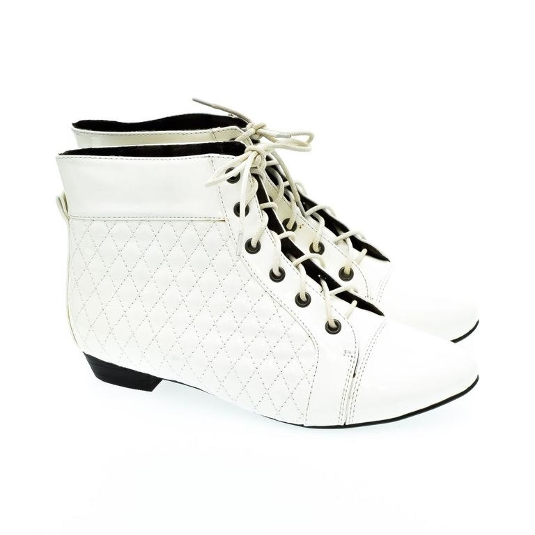 Dámske biele členkové topánky KORNELIA 9bc9ebff36e