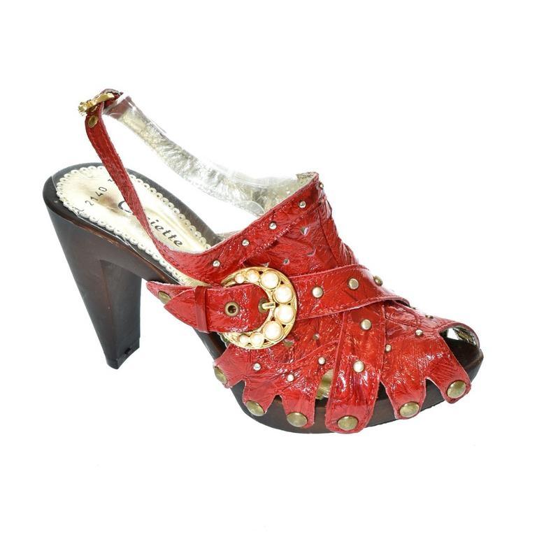 44d3db7bfa62 Dámske červené sandále RESS