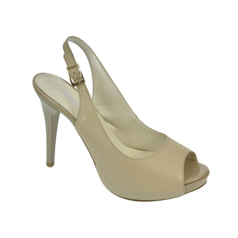 d3a965dfd440 Dámske kožené béžové sandále SINNI