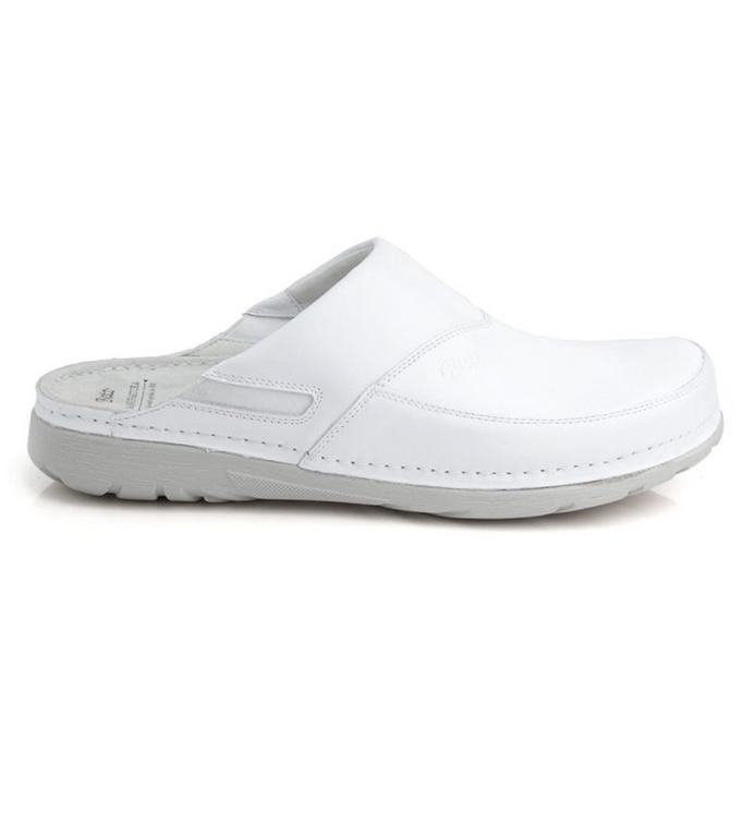 4b6156cf7adb Pánske biele zdravotné šľapky PETER