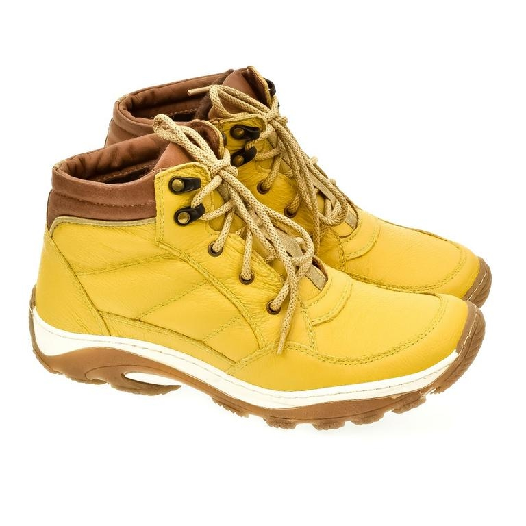 16467804df76 Pánske žlté kožené topánky CANO