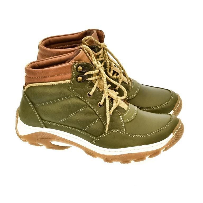 Dámske zelené kožené topánky CANA 96f699066c6