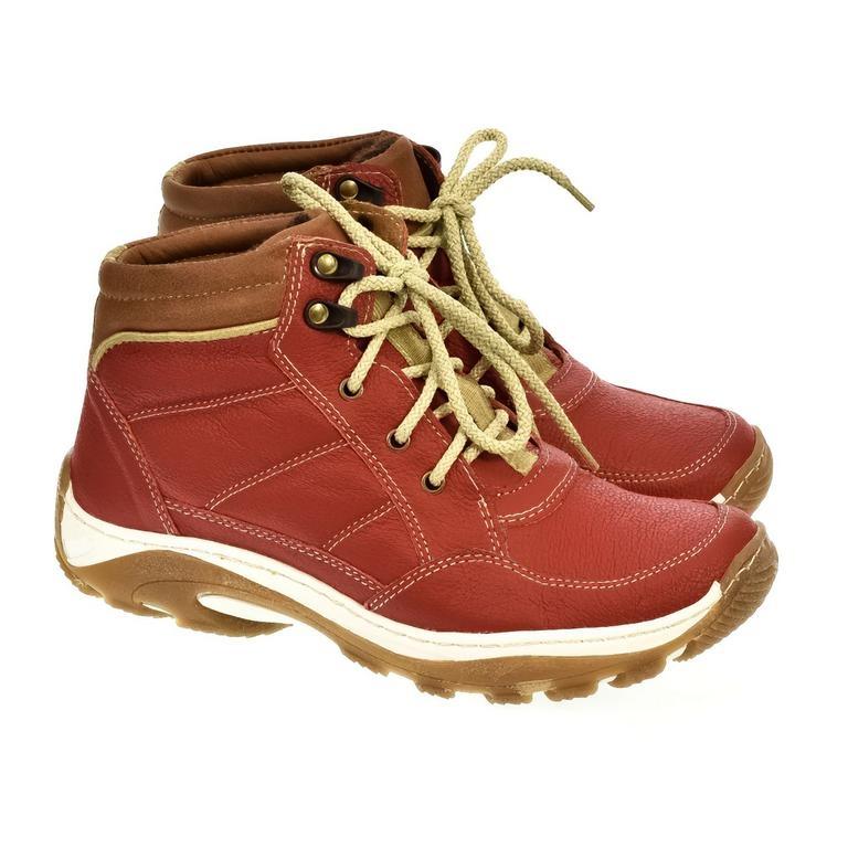 a5f67358fca6 Dámske červené kožené topánky CANA