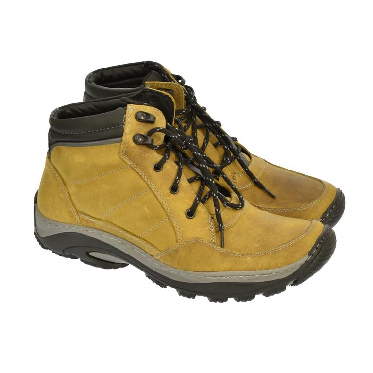 ecb3177b9a25 Pánske horčicové kožené topánky CANO