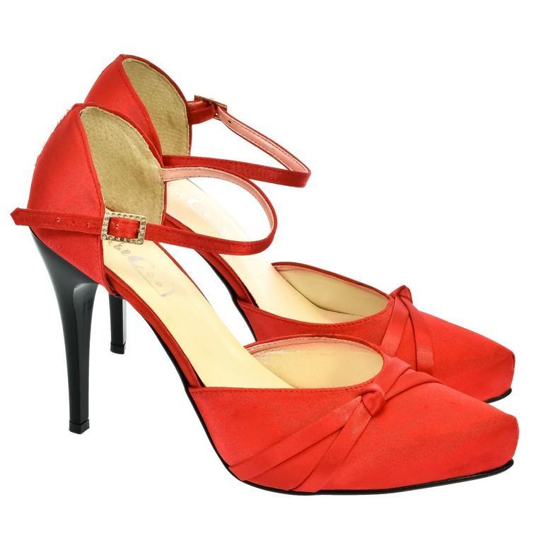 7434ad0a42ca Dámske červené sandále PEBLINII P70