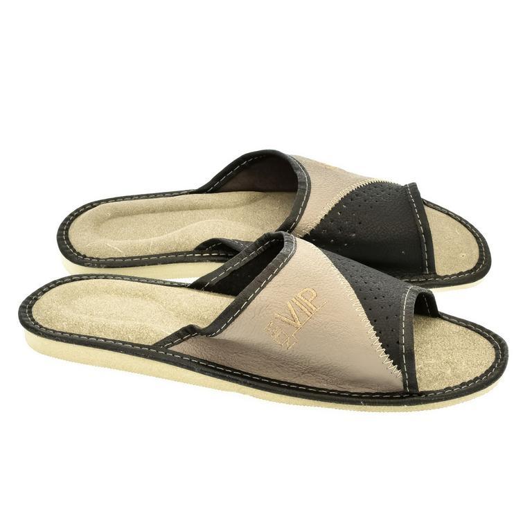 a94e29558bf7 Pánske sivé papuče LEOL
