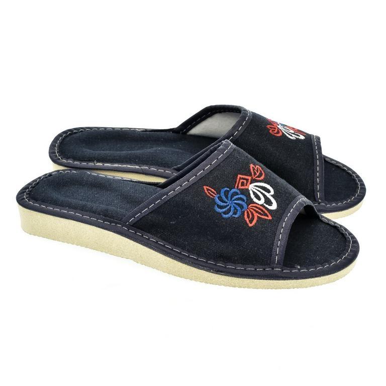 48378151aa32 Dámske modré papuče JELA