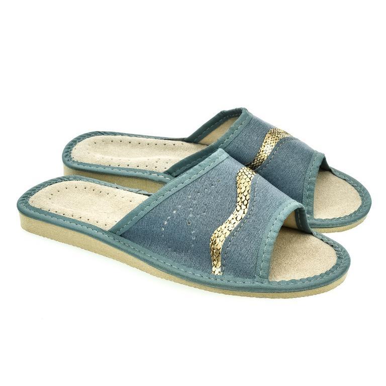 58e9aff803b7b Dámske modré papuče LARISA