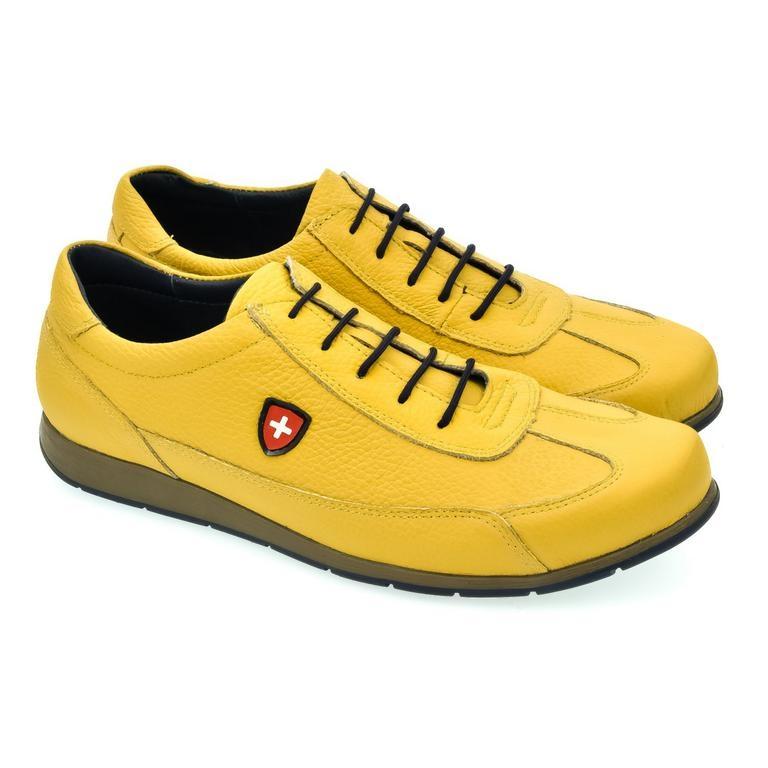 Pánske žlté kožené botasky TIGRAN  3dd77fa6807