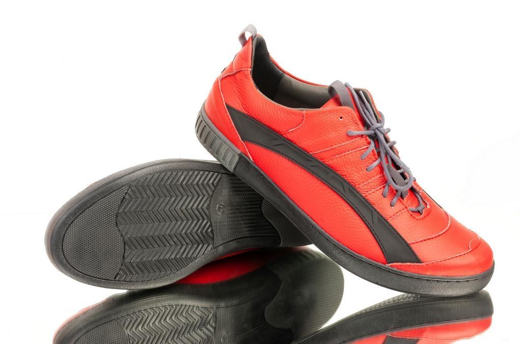 1c48eeaa06bf Pánske červené topánky ELIAS