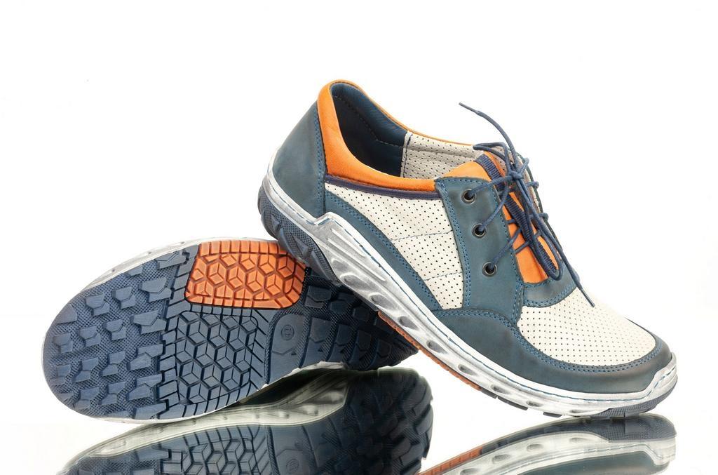 c88e8fdc832b8 Pánske modro-biele topánky MICELI | Johnc.sk