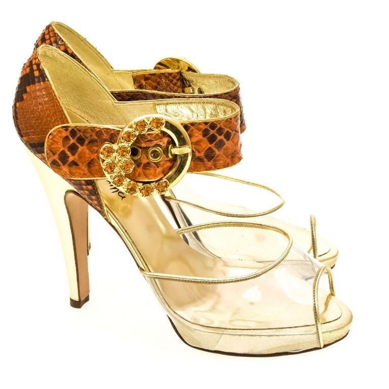 ad77f554093e Dámske oranžové sandále HELY