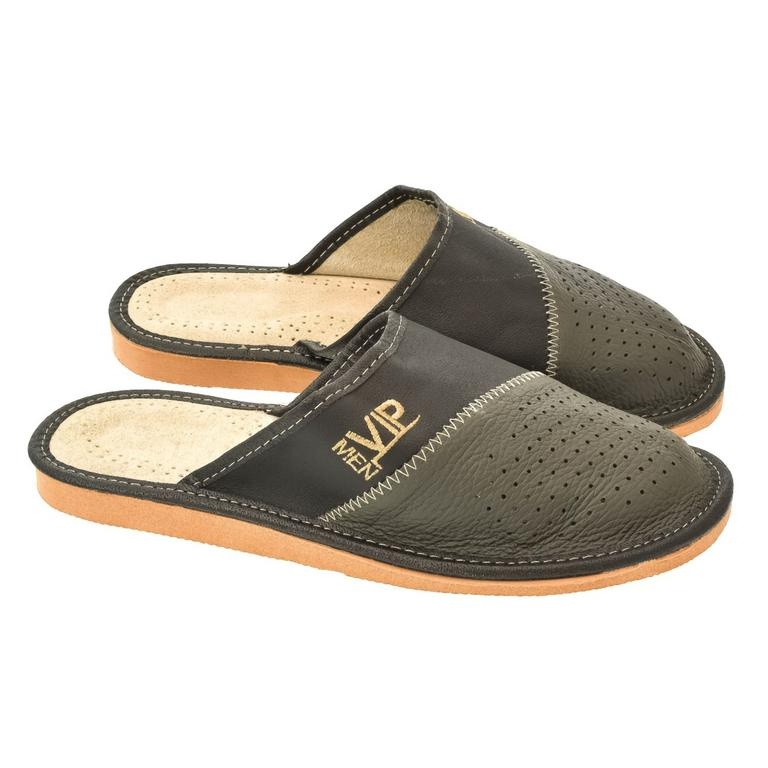 151a69dbc494 Pánske sivé papuče VIPMEN