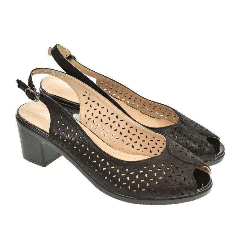 061e8b522d97 Dámske čierne sandále SONA