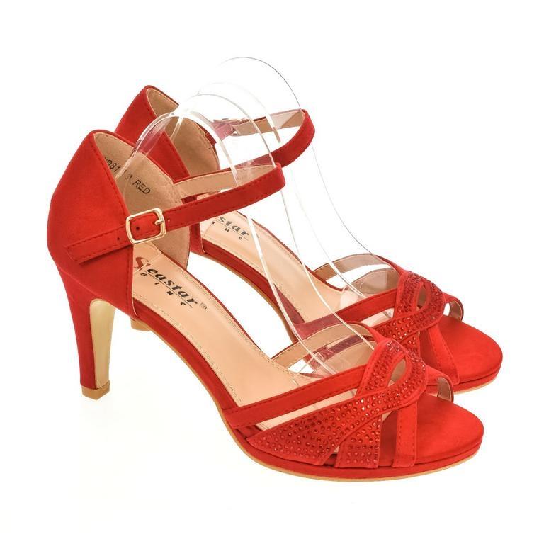 94f5b2c713e33 Dámske červené sandále LIMMA   Johnc.sk