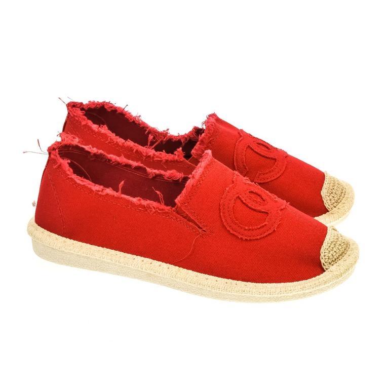 816f4c828d Dámske červené poltopánky CHANEL