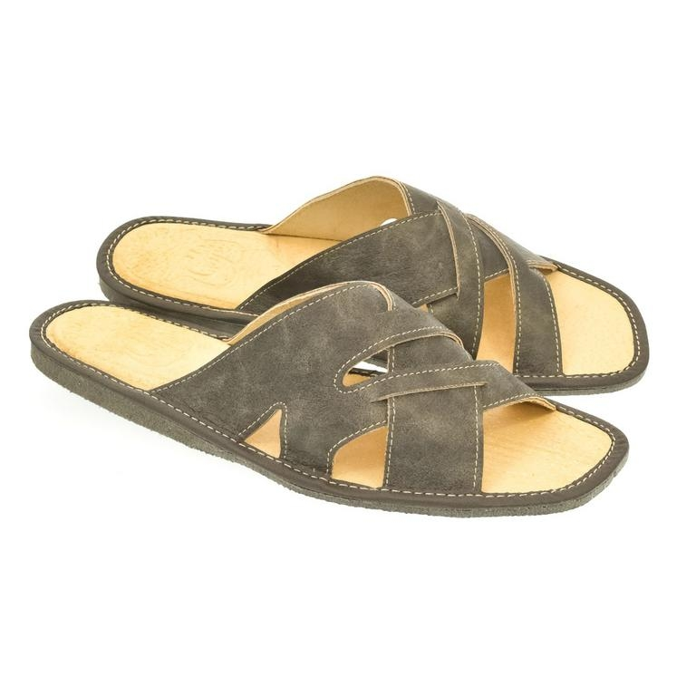 5045f4ee9ee5 Pánske sivé papuče RONDO