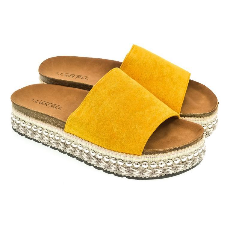 2ade5ed698 Dámske žlté šľapky NILA