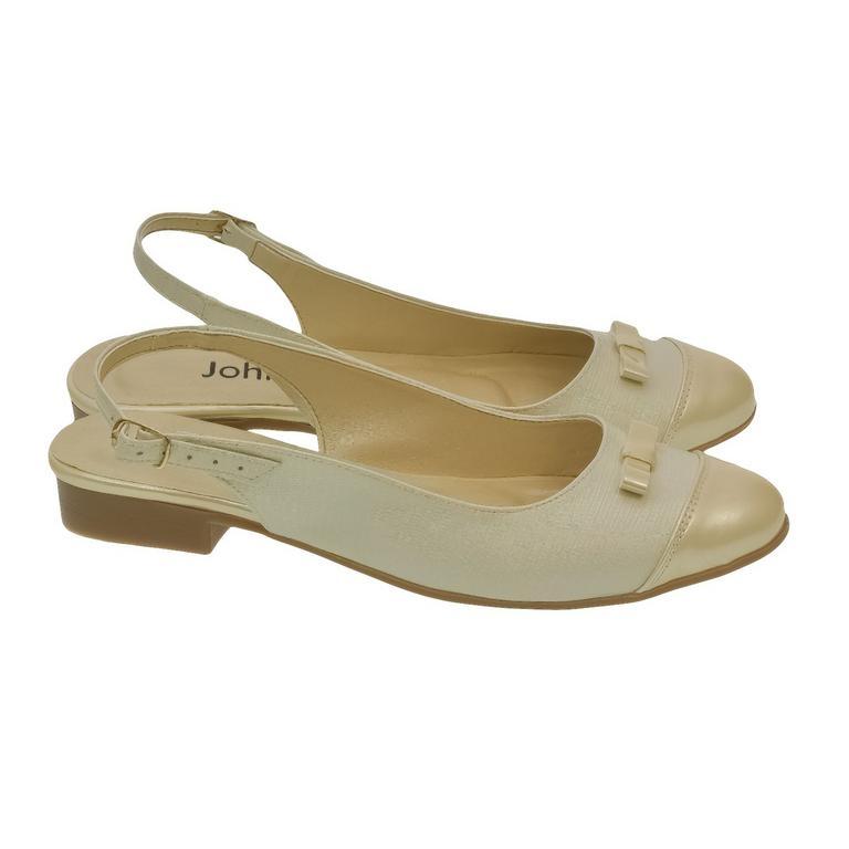 8143a0b51c12 Dámske zlato-béžové sandále EVELINE