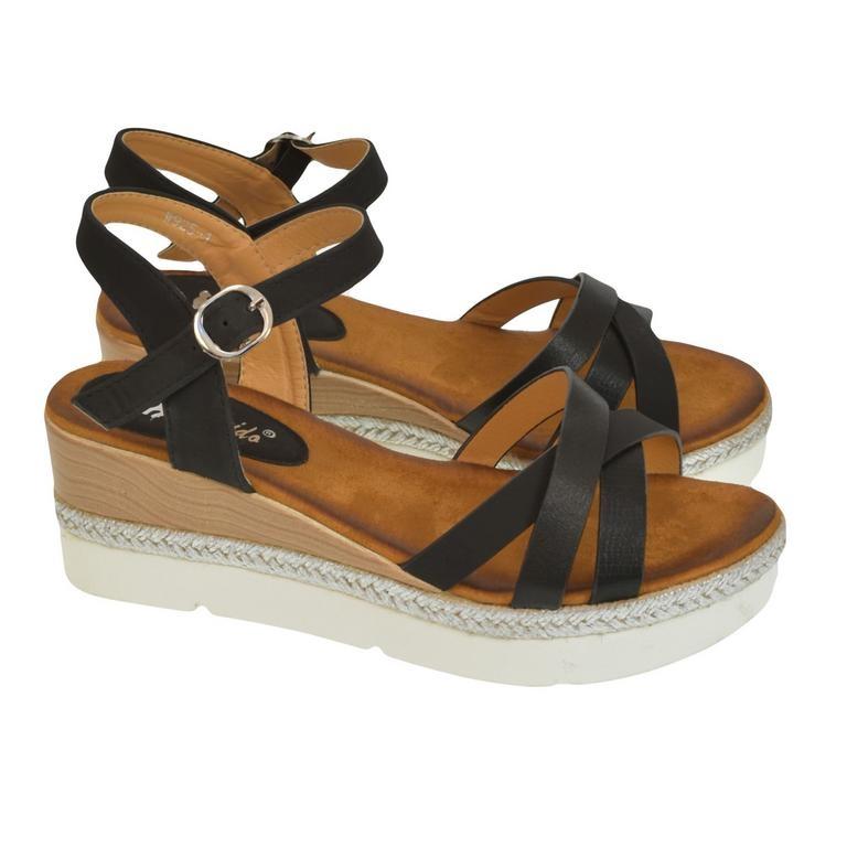 59917c70d970 Dámske čierne sandále RILLA