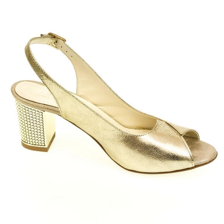 8b29b14574c7 Dámske zlaté sandále JOLANA