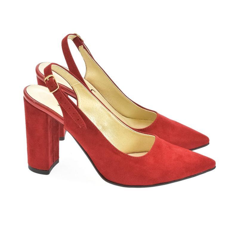 14ecf9b5a0 Dámske červené sandále ELISSA