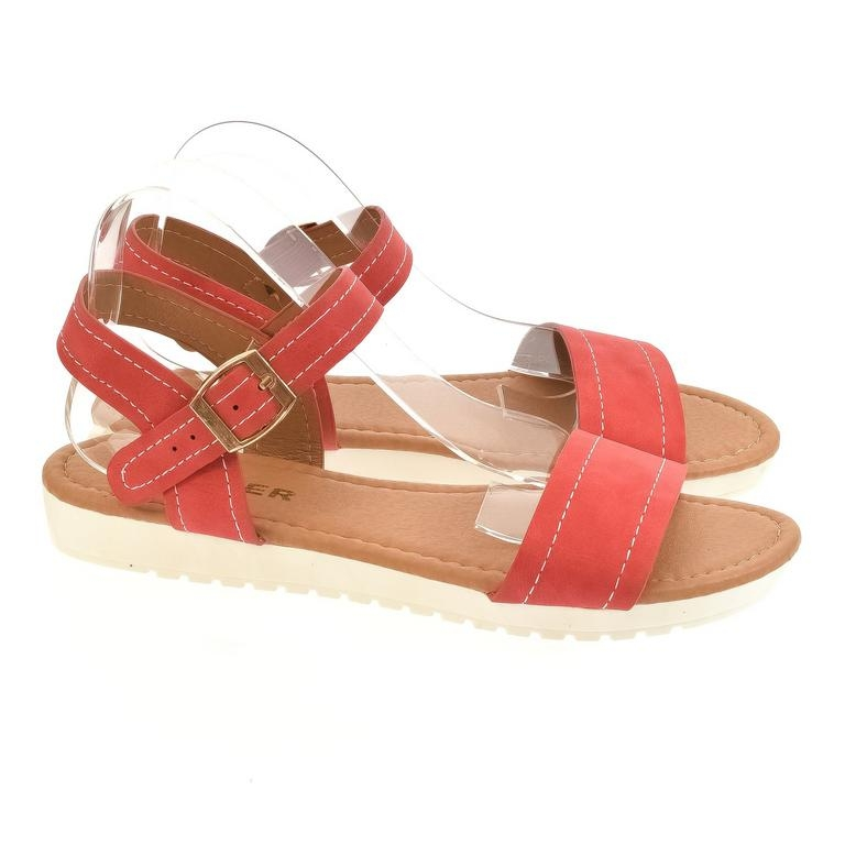 42c252a51c255 Dámske červené sandále HILFA | Johnc.sk