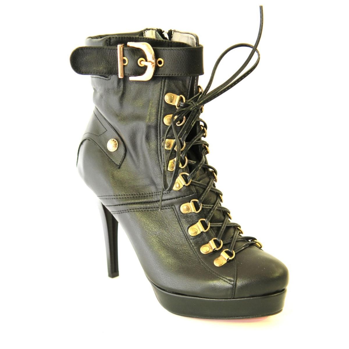 CALISTA 017 CIERNE-Kotníkové topánky čiernej farby TK  561badee261