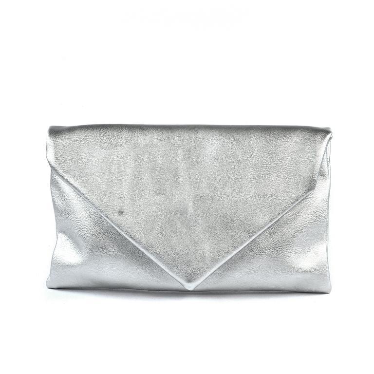 2b318caf99 Dámska listová strieborná kabelka LETTY