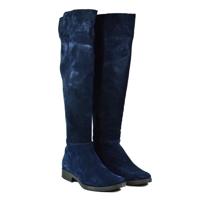 Dámske modré čižmy ALIANA  053843a2b6d
