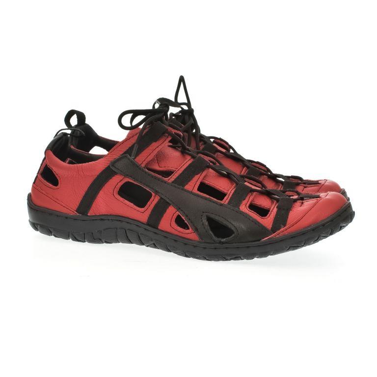 Pánske kožené červené topánky VINCENT  d43da3d5e41