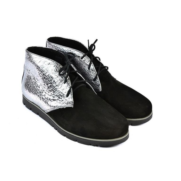 75bc1f7babc9 Dámske čierno-strieborné kožené topánky ZEFIR