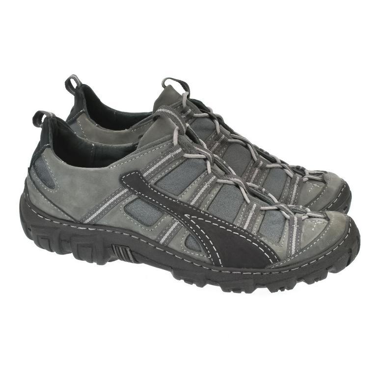 20de97610533 Pánske sivo čierne kožené topánky VINCENZO
