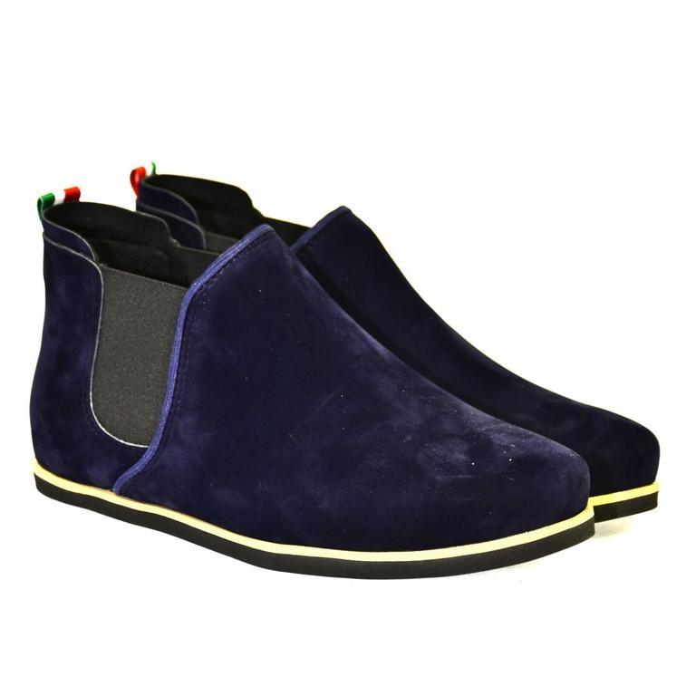 42be4226b4d77 Dámske tmavo-modré členkové topánky ORIOS | Johnc.sk
