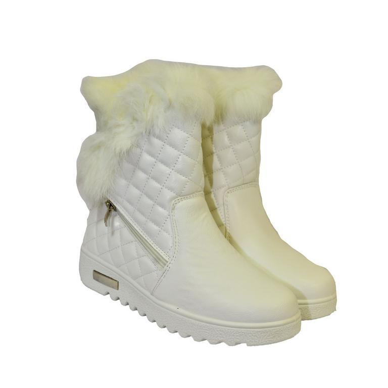 466872a84c Dámske biele čižmy LOLLA