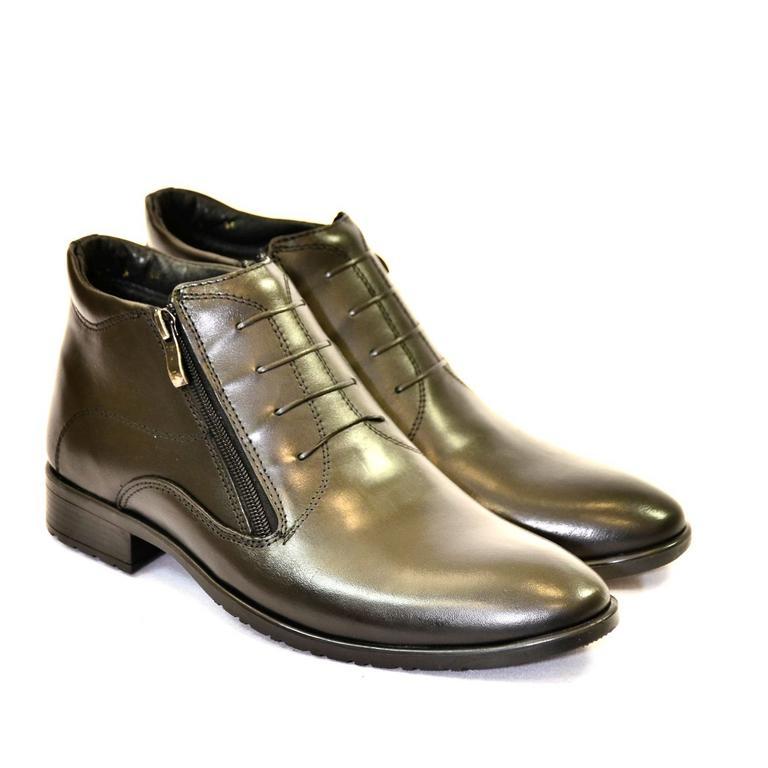 08a7fd5b32c2 Pánske čierne kožené zimné topánky ARTHUR
