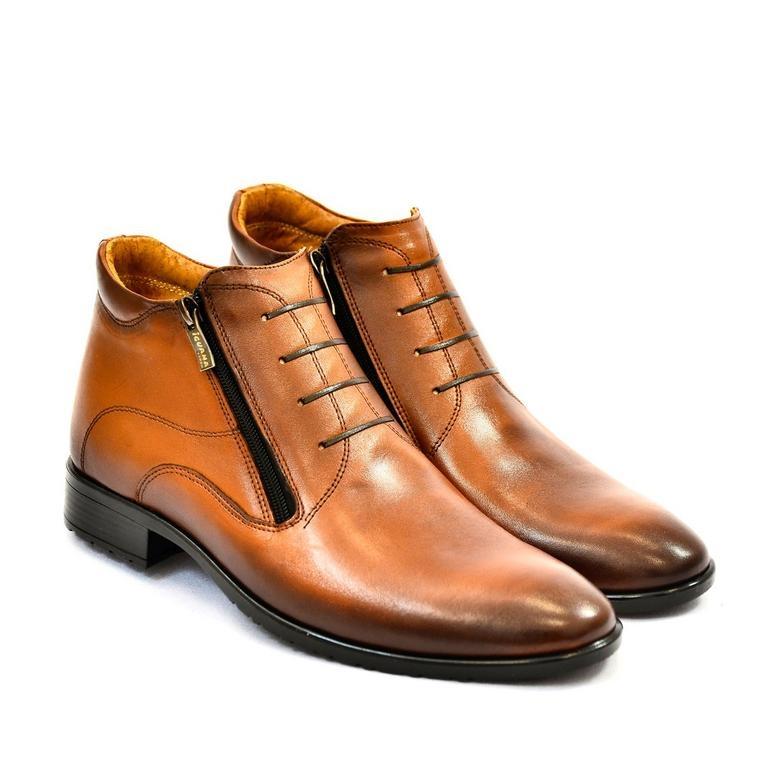 Pánske hnedé kožené zimné topánky ARTHUR  5d4dd4deb0e