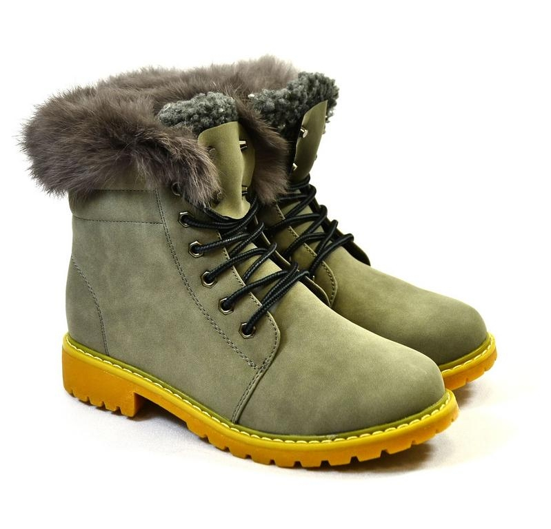 70b5e0f38 Dámske sivé zimné topánky KLOE | Johnc.sk