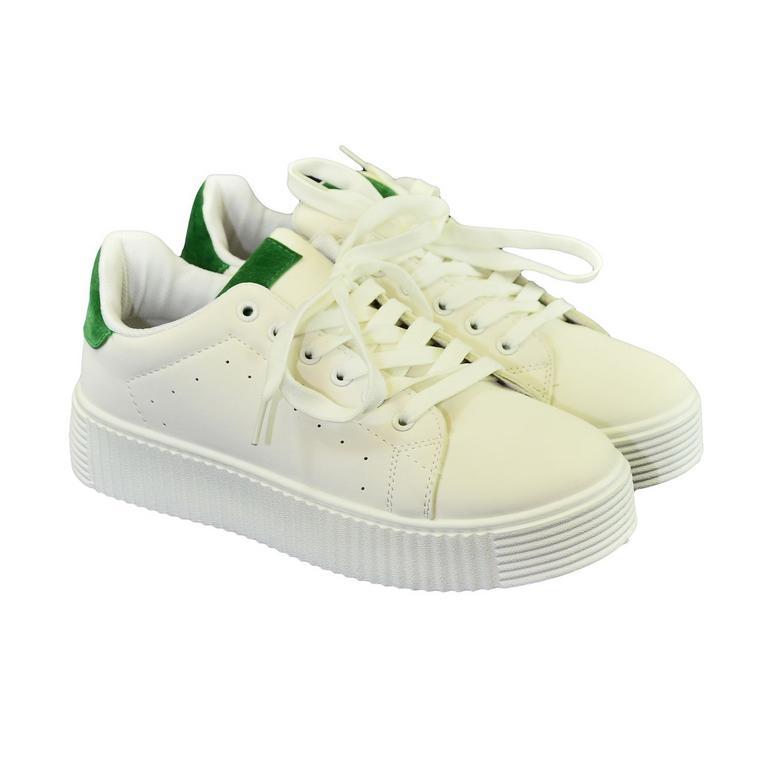 abffc2a58 Dámske bielo-zelené tenisky AVILA | Johnc.sk