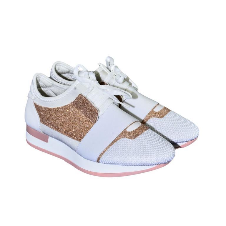 d7d53d883c91 Dámske bielo-ružové botasky BRIEN