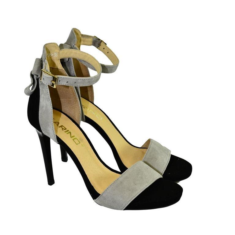ac711176f5cf Dámske sivo-čierne sandále RAILI